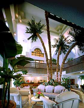 View of the Lobby at the Renaissance Grand Beach Resort of St. Thomas, U.S.V.I.